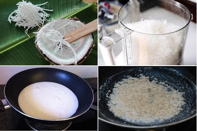 cách nấu dầu dừa