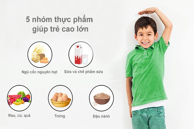 Dinh dưỡng cho trẻ tăng chiều cao
