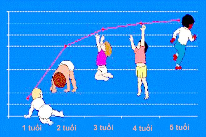 Chiều cao cân nặng của trẻ 0-5 tuổi. Ảnh Internet