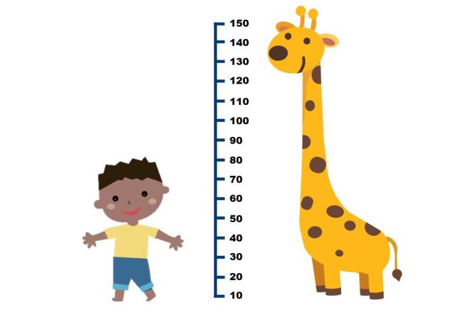 Đo chiều cao cho trẻ