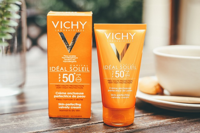 Kem chống nắng dành cho da khô Vichy Velvety Cream SPF 50+