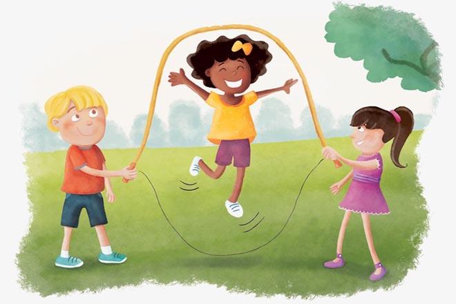 Trẻ nhảy dây