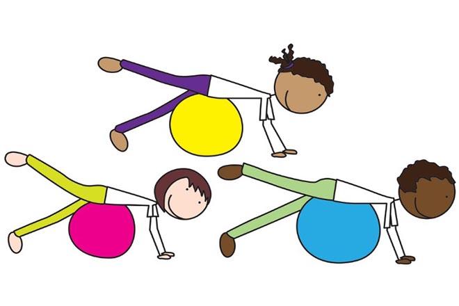 Trẻ tập Pilates