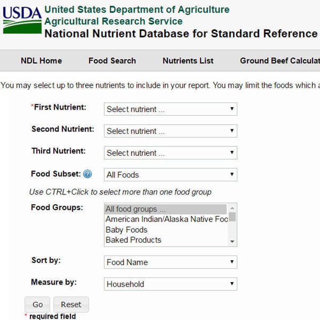 USDA Food Search