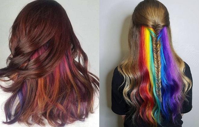 Highlight ẩn dưới một lớp tóc