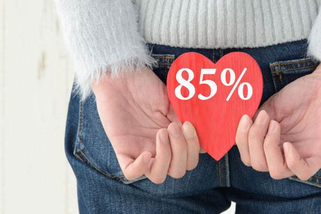 85 phần trăm phụ nữ mang thai bị trĩ
