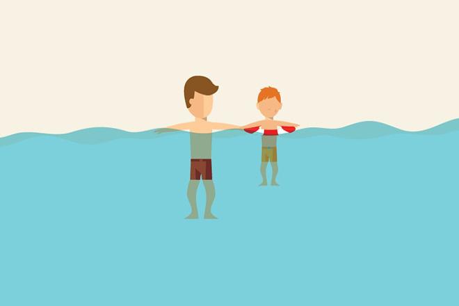 Dạy trẻ nguyên tắc an toàn về đuối nước