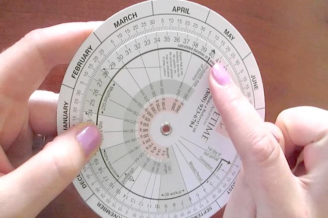 Lịch tính thai kỳ dạng bánh xe