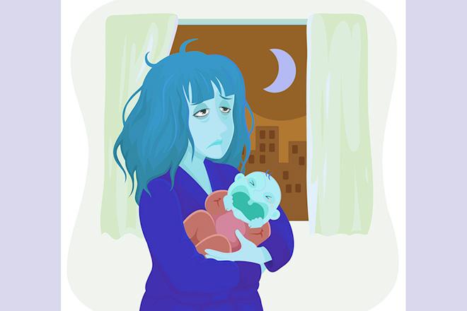 Mẹ sau sinh không còn chút sức lực