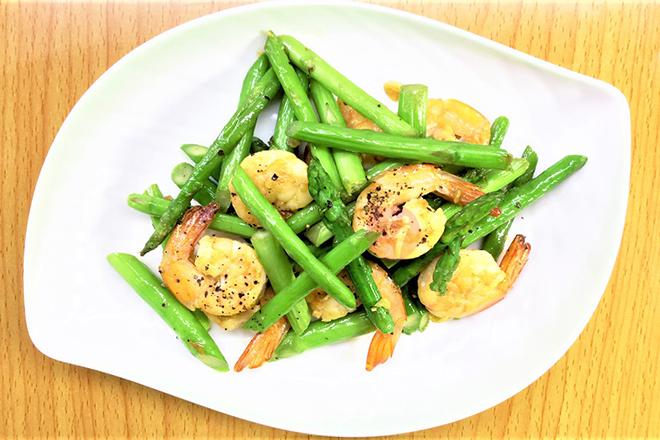 Tôm xào măng tây bổ dưỡng