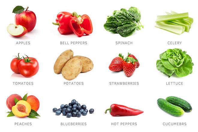 12 loại rau củ nhiều thuốc sâu