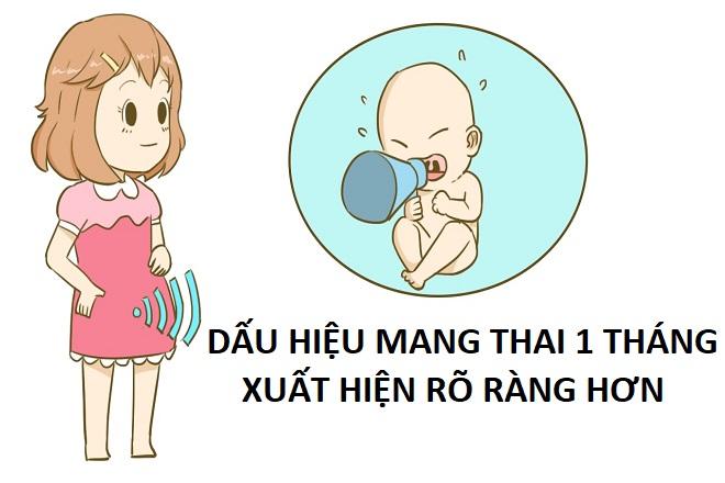 dấu hiệu có thai tháng đầu