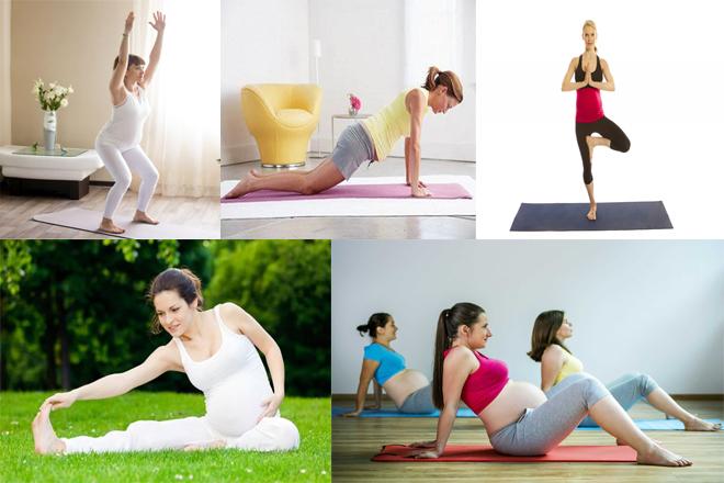mẹ bầu 3 tháng tập yoga