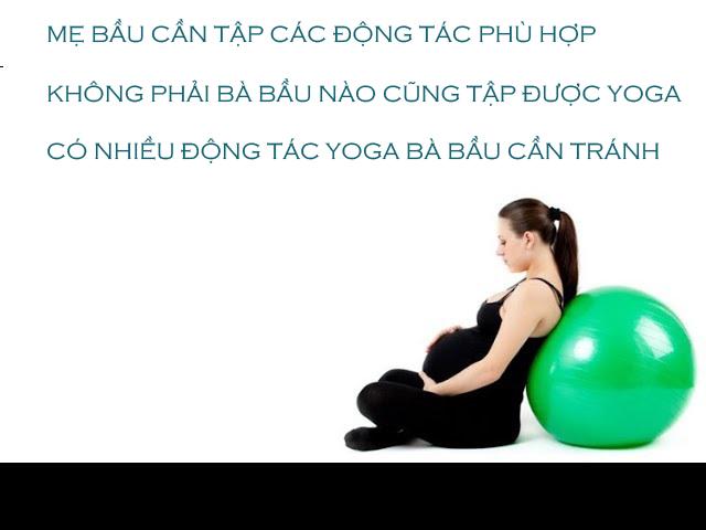 Những điều cần nhớ khi mẹ tập yoga