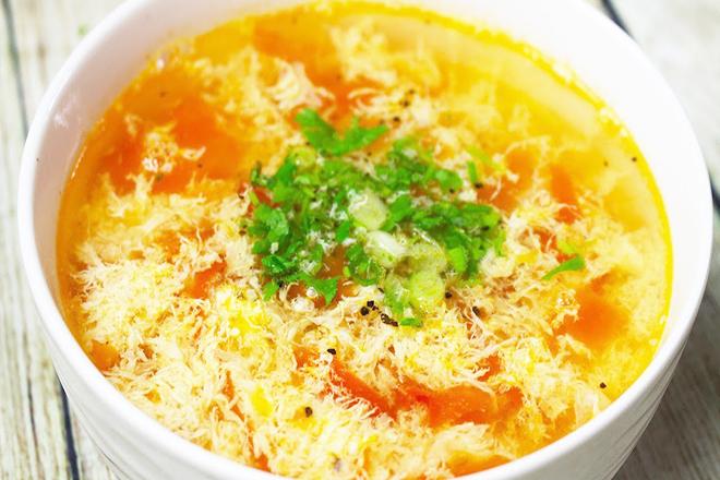 Canh trứng cà chua