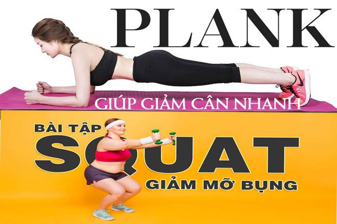 bài tập plank và squat