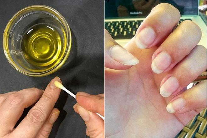 dưỡng ẩm cho móng bằng dầu dừa