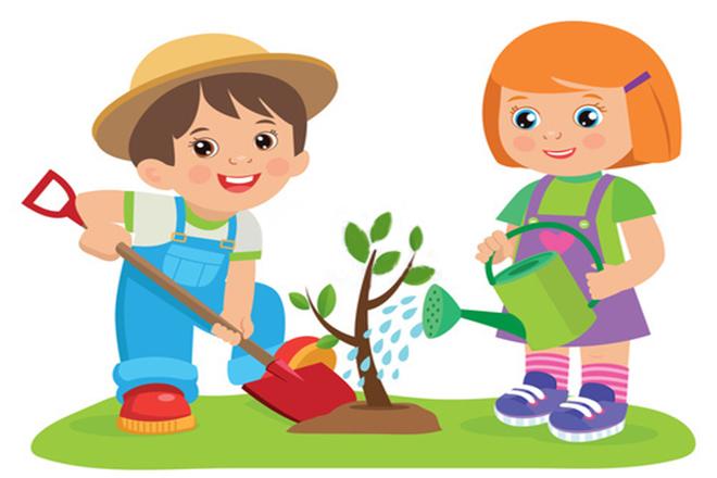 Trẻ trồng cây