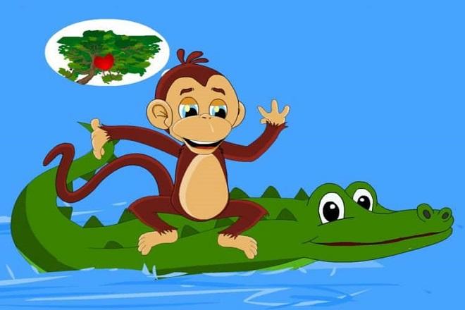 truyện khỉ và cá sấu