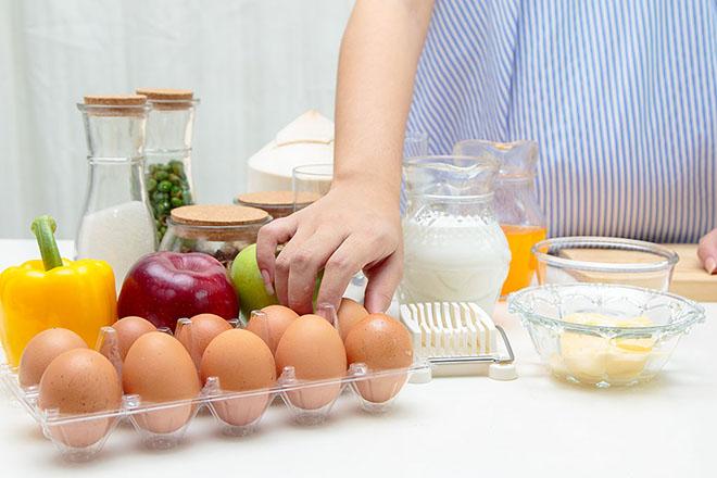 Bà bầu dùng trứng