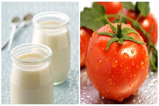 Hỗn hợp cà chua và sữa tươi vừa dưỡng trắng vừa dưỡng ẩm cho da