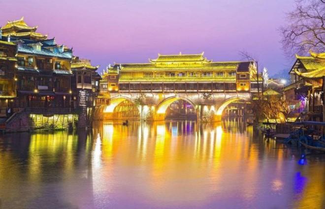 Cầu Hồng Kiều về đêm