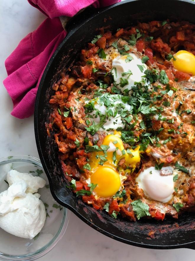 Sự kết hợp hài hòa giữa trứng và nấm