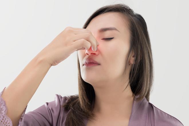 Mẹ bầu nghẹt mũi