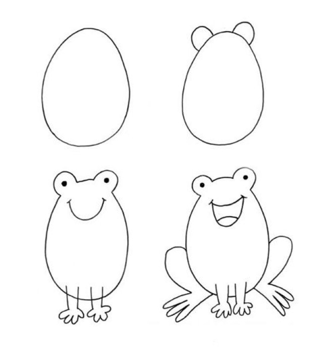Cách vẽ hình chú cóc