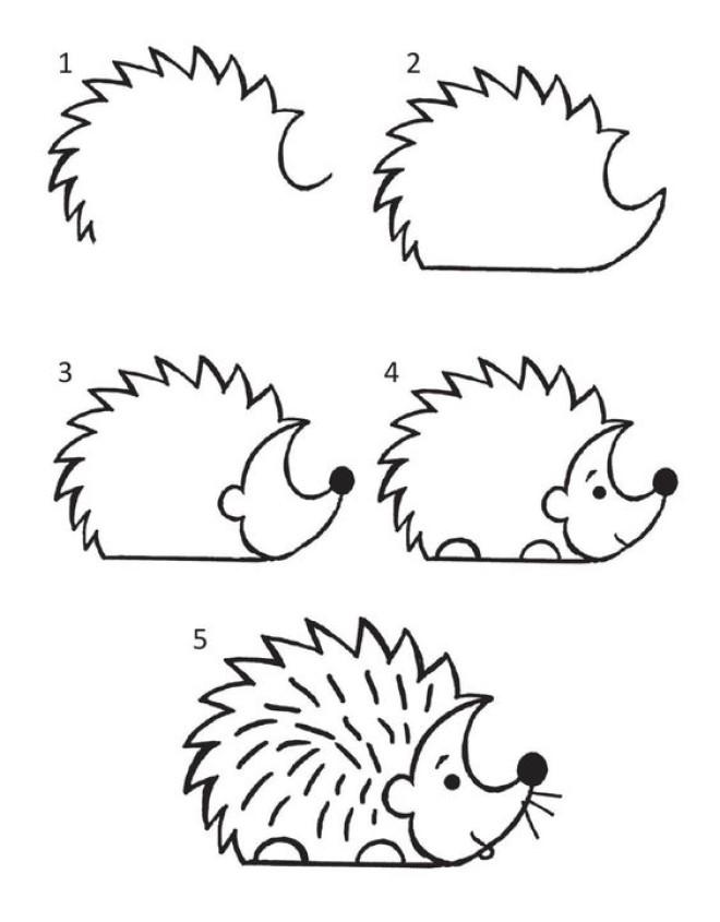 Cách vẽ hình con nhím