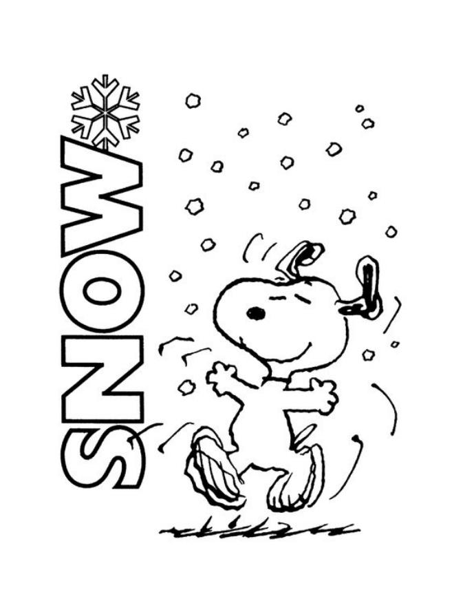 Tranh tô màu chú chó Snoopy
