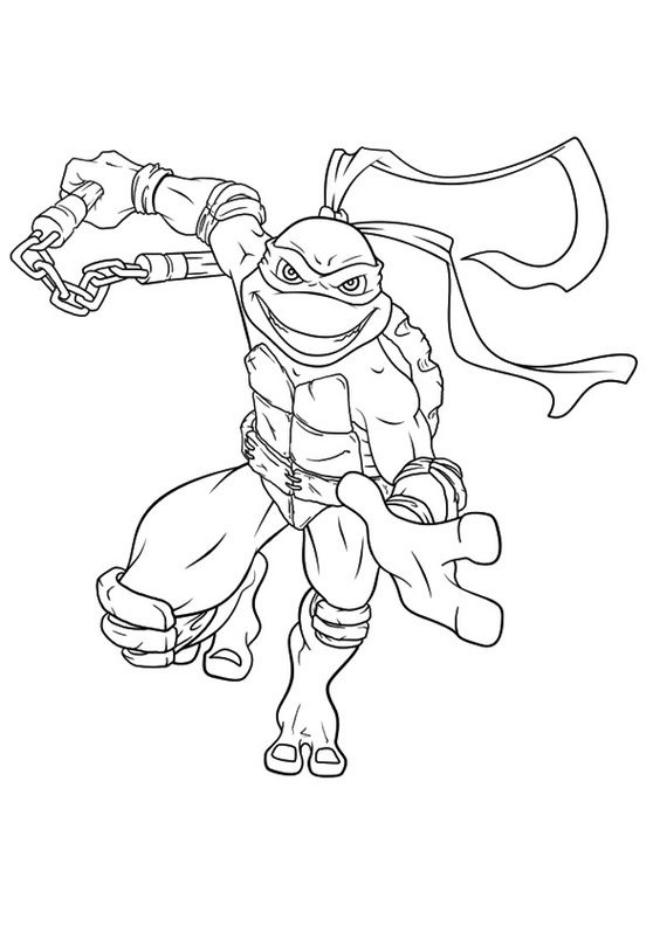Tranh tô màu của Ninja Rùa