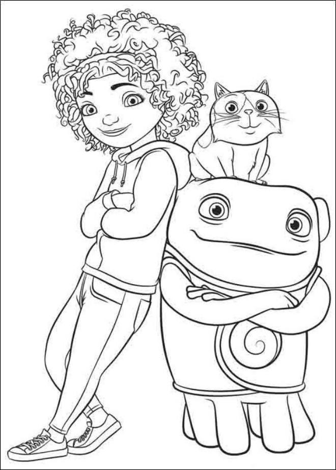 Các nhân vật trong phim hoạt hình Home