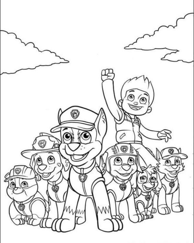 Tranh tô màu Đội chó cứu hộ