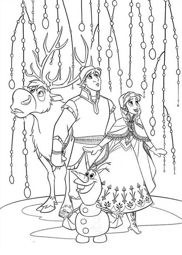 Tranh tô màu hoang tử và công chúa Anna