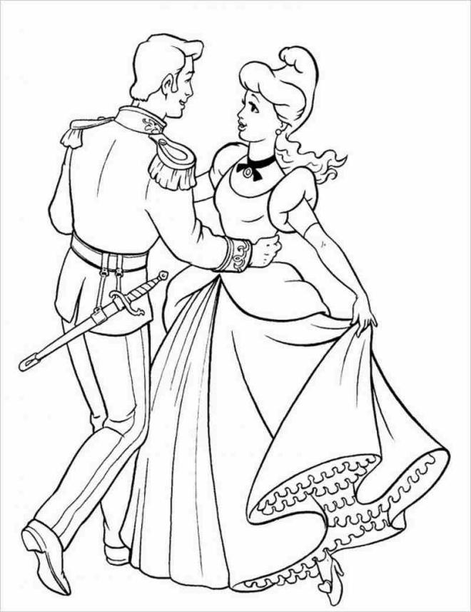 Hoàng tử và công chúa lọ lem đến vũ hội