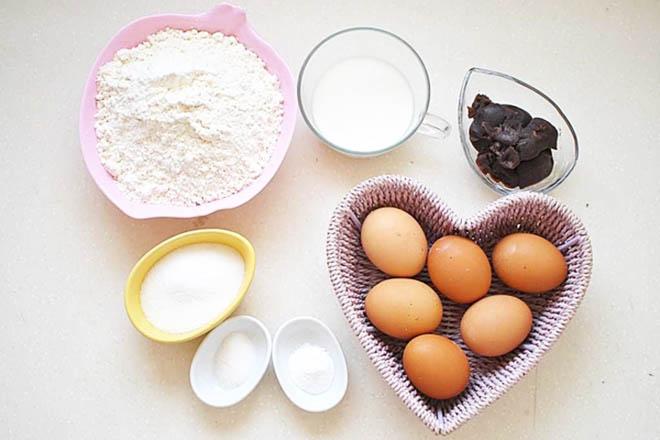 Nguyên liệu làm bánh doremon