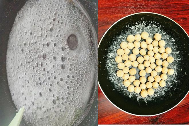 Nấu đường và sên bánh