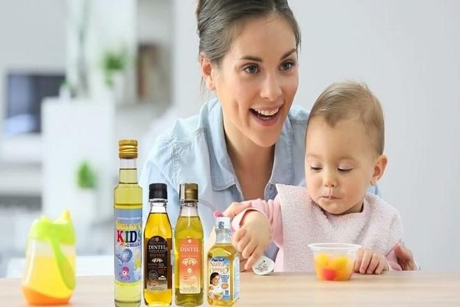 bổ sung dầu ăn trong thức ăn của trẻ