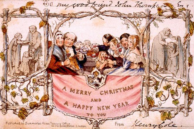 Tấm thiệp Giáng sinh đầu tiên