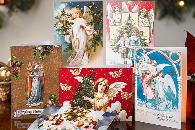 Thiệp Giáng sinh hình các vị thần