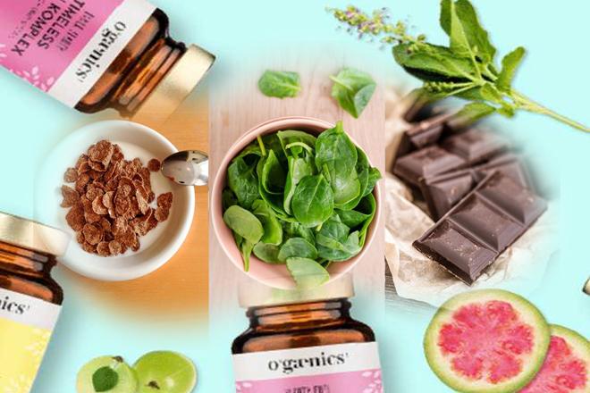Uống vitamin và ăn đầy đủ chất
