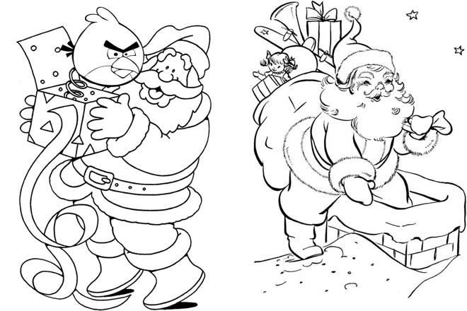 Ông già Noel chui qua ống khói