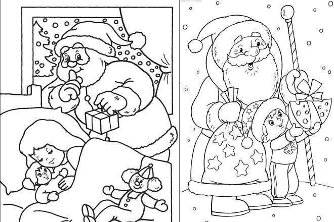 Ông già Noel tặng quà cho em nhỏ