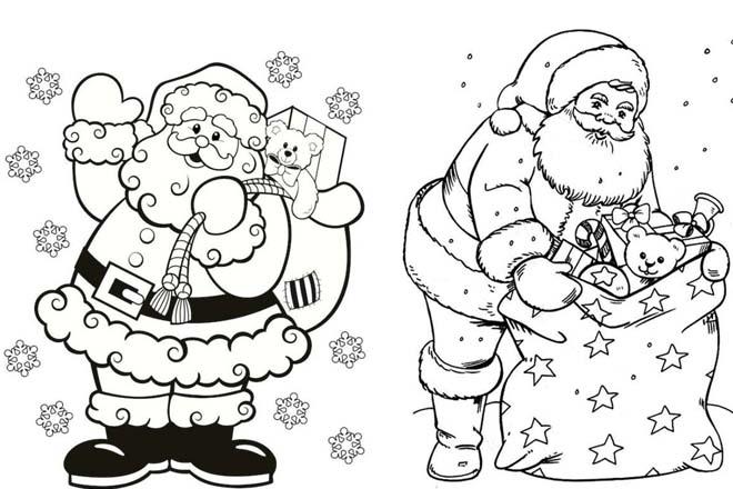 Ông già Noel cầm quà