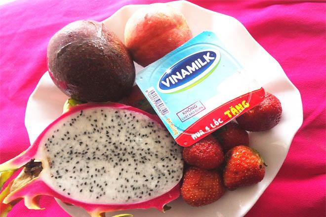 Nguyên liệu làm kem sữa chua trái cây