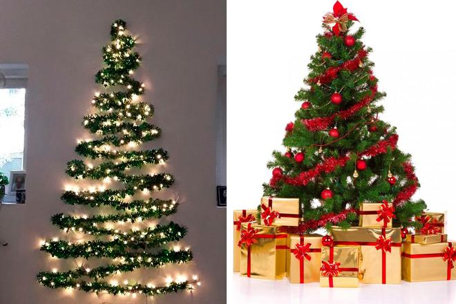 Trang trí cây thông Noel bằng dây kim tuyến dưới sapo