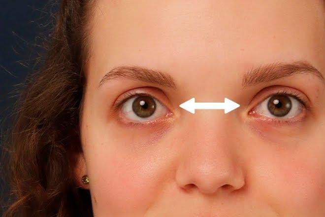 Tỉa lông mày cho đôi mắt cách xa nhau