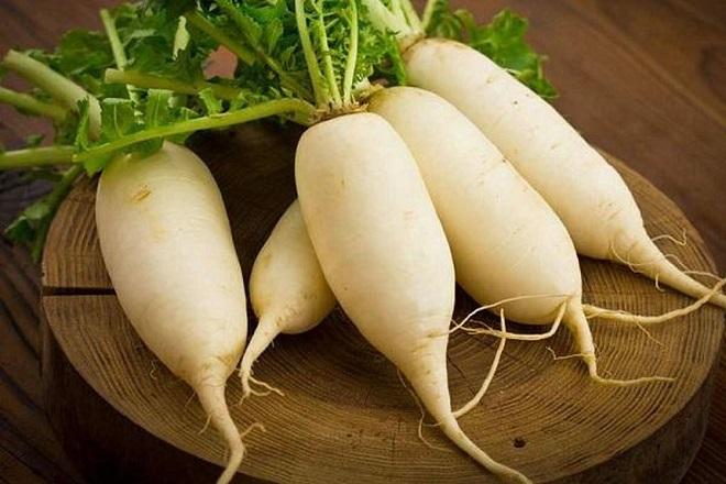 củ cải trắng làm dưa món