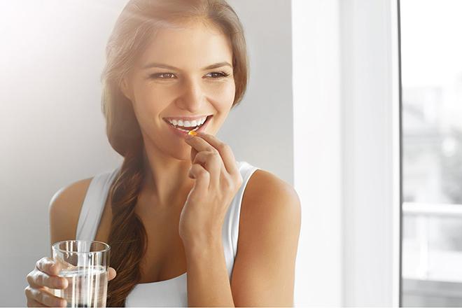 Phụ nữ uống Vitamin E